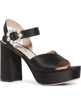 Jewel Platform Sandal by Miu Miu