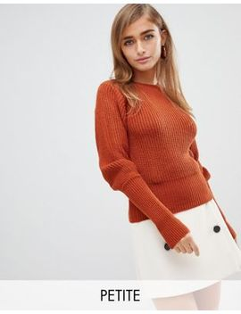 Fashion Union Petite Jumper With Fitted Rib by Fashion Union