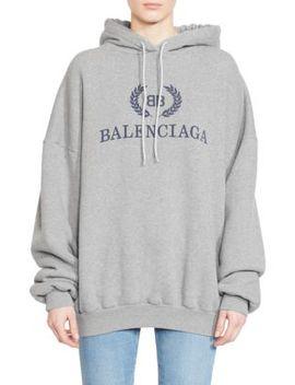 Cotton Jersey Logo Hoodie by Balenciaga