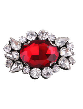 Eye Embroidery Crystal Rhinestone Beaded Patch Clothes Sewing Applique Red by Unbranded