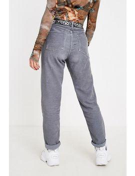 Bdg Grey Blue Corduroy Mom Trousers by Bdg