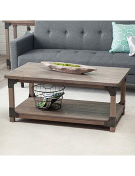 Belham Living Jamestown Rustic Coffee Table With Unique Driftwood Finish by Belham Living