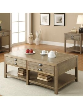 Coaster Furniture Light Oak Coffee Table by Coaster Furniture