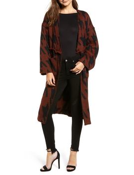 Houndstooth Belted Cardigan by Moon River