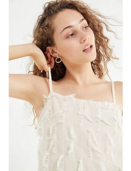 Uo Fringed Faux Feather Mini Slip Dress by Urban Outfitters