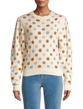 Jacquard Knit Dot Sweatshirt by La Vie Rebecca Taylor
