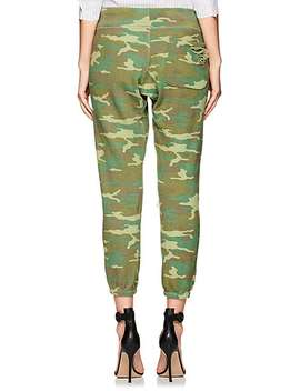 Sayde Distressed Camouflage Cotton Sweatpants by Nsf