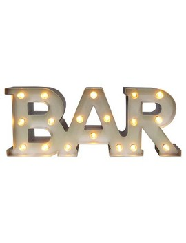 Bar Marquee Led Light Brass   Threshold™ by Threshold