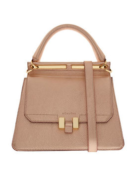 Rose Gold Leather Grab Bag by Maison Heroine