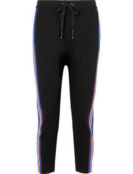 Court Run Striped Stretch Ponte Track Pants by P.E Nation