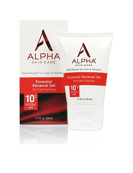 Alpha Skin Care   Essential Renewal Gel, 10 Percents Glycolic Aha, Real Results For Lines And Wrinkles| Oil, Fragrance, And Paraben Free| 1.7 Ounce (Packaging... by Alpha Skin Care