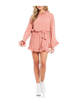 Long Sleeve Ruffle Romper by Gb