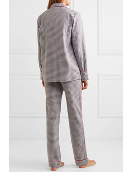 Halle Checked Cotton Flannel Pajama Set by Three J Nyc