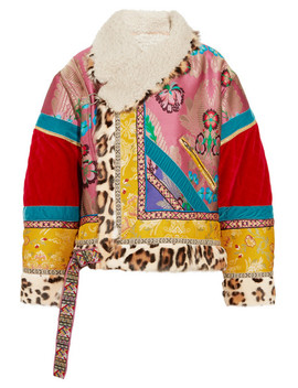 Oversized Patchwork Jacquard, Velvet, Shearling And Calf Hair Jacket by Etro