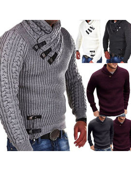 Men's Knit Wear Turtleneck Jumpers Sweaters Slim Basis Tops Pullover T Shirt by Unbranded