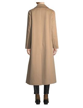 Long Two Button Wool Coat by Fleurette