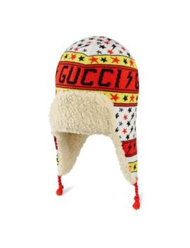 Kid's Faux Fur Trapper Hat by Gucci