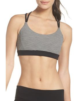 So Hot Stripe Sports Bra by Zella