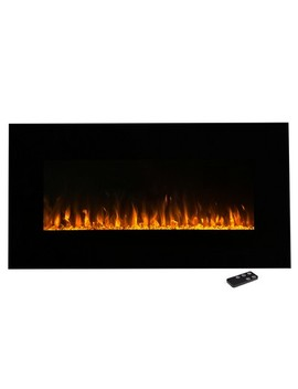 """Electric Fireplace Wall Mounted  Led Fire And Ice Flame  With Remote 36""""   Northwest by Northwest"""