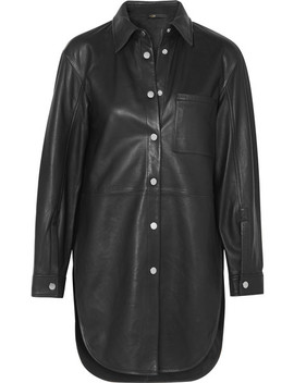Leather Shirt by Maje