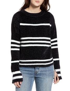 Chenille Stripe Knit Sweater by Love By Design