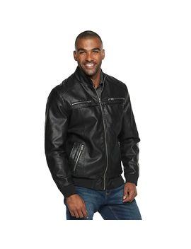 Men's Xray Slim Fit Faux Leather Moto Jacket by Kohl's