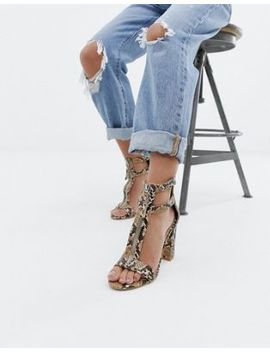 simmi-london-snake-print-zip-up-detail-block-heel-sandals by simmi