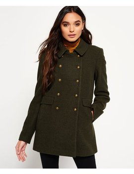 Military Pea Coat by Superdry
