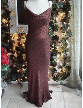 Full Length, Beads & Sequins, 100 Percents Silk Evening Gown Size 2 by Oxygene