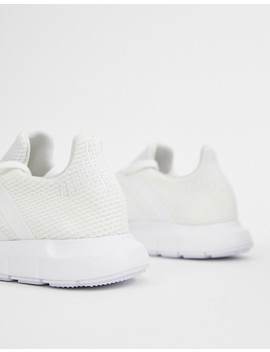 Adidas Originals White Swift Run Sneakers by Adidas