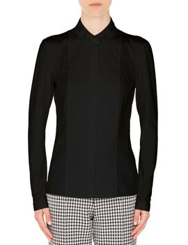 Grommet Collar Blouse by Akris Punto