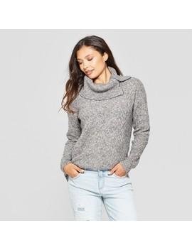 Women's Split Cowl Neck Tunic Sweater   Jillian Nicole   Gray by Jillian Nicole