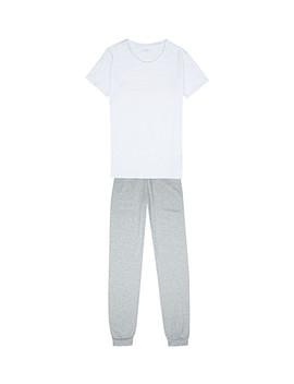 Logo Print Cotton Stretch Pyjama Set 4 16 Years by Calvin Klein
