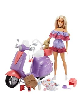 Barbie Pink Passport Doll & Scooter Giftset by Barbie
