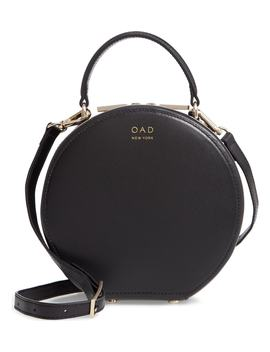 Mini Circle Pebbled Leather Satchel by Oad New York