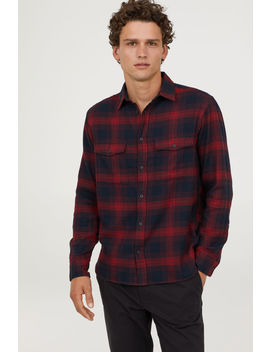Flanellhemd Regular Fit by H&M