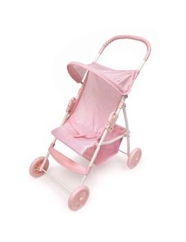 Badger Basket Doll Umbrella Stroller   Pink & White by Badger Basket