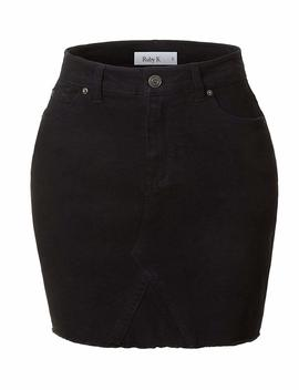 Rk Ruby Karat Womens Casual Vintage Denim Mini Skirt With Pockets by Rk Ruby Karat