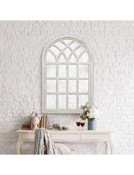 Gallery Solutions Farmhouse Cathedral Windowpane Wall Mirror by Generic