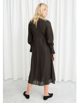 Metallic Pinstripe Maxi Dress by & Other Stories