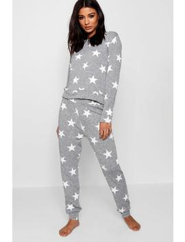 Star Print Lounge Set by Boohoo