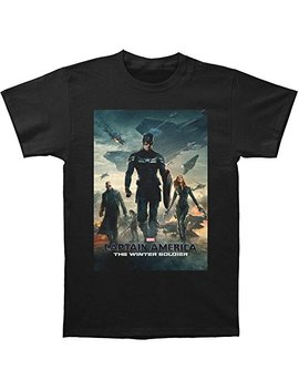 Marvel Captain America Movie Poster Mens Tee by Impact