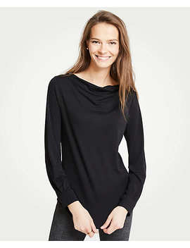 Cowl Neck Long Sleeve Top by Ann Taylor