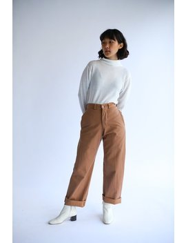 "Vintage 25"" Waist Almond Brown Chinos 