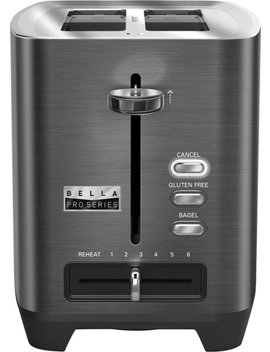 Pro Series 2 Slice Extra Wide Slot Toaster   Black Stainless Steel by Bella