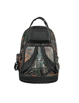 Backpack, Electrician Tool Bag, Camo Tradesman Pro Organizer, 39 Pockets, Molded Base Klein Tools 55421 Bp14 Camo by Klein Tools