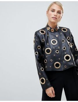 Forever Unique Oversized Leather Effect Jacket by Forever Unique
