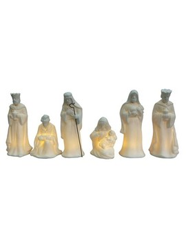 Lit Ceramic Nativity Set   Wondershop™ by Shop This Collection