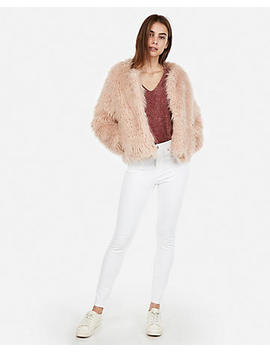 Petite Shaggy Jacket by Express