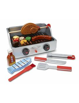 Melissa & Doug Rotisserie And Grill Wooden Barbecue Play Food Set (24 Pcs) by Melissa & Doug
